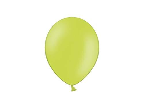 Les Colis Noirs LCN - Lot de 10 Ballon Pastel 27cm - Vert Citron - Décoration Fête Mariage Baptême - 809