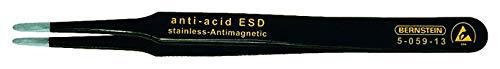 Bernstein 5-059-13 Pince CMS plate avec pointes rondes 2 mm et revêtement ESD 120 mm