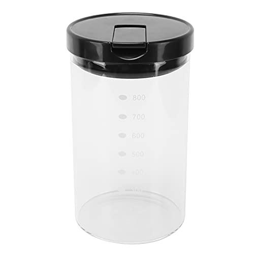 Fdit Recipiente de Vidrio para Almacenamiento de Alimentos con Tapa, Frasco multifunción para Alimentos con línea de Escala para Uso doméstico en la Cocina(2#)