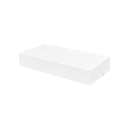 Wakects - 2 estantes de pared con 1 cajón, estante flotante para libros, CDs y decoración, diseño moderno, decoración práctica para casa, 48 x 25 x 8 cm, color blanco