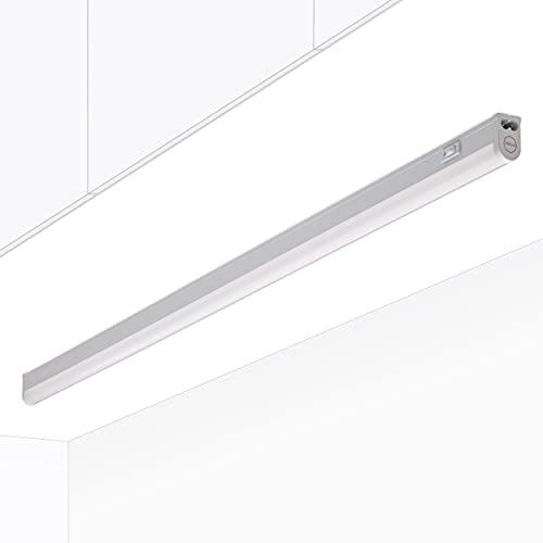 Oktaplex Lighting LED Unterbauleuchte Küche | Riga 13W Unterschrankleuchte mit Schalter | warmweiß 3000K erweiterbar | Länge:84cm