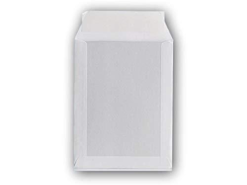 5 enveloppe blanche, pochette dos carton rigide C4 229 X 324 poche, sac rigide pour envoi sans plier. Enveloppe cartonnée au verso sur son arrière - Renforcée - Fermeture par bande adhésive