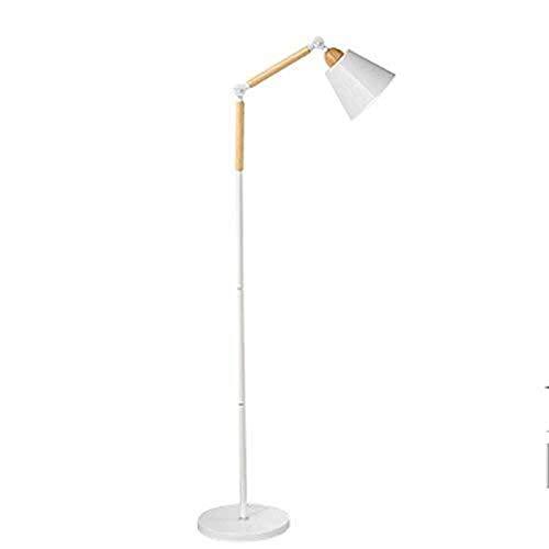 CENPEN Led Lámpara de pie, de la Personalidad Moderna Pesca Luces Creativo nórdica Salón Dormitorio Estudio Vertical de la lámpara Eye-Cuidado Vertical luz del Piso (Color : Whitefoot Switch)