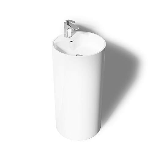 Mai & Mai Design-Standwaschbecken Col35 in Weiß aus Gussmarmor Standwaschtisch Waschtisch BTH: 45x45x90cm