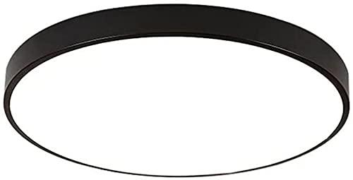FAWFDF Luminaria empotrable de Techo LED Minimalista Luz de Techo de Color Redondo con luz de Tres Tonos 12w-36w 1200 lúmenes, 2700K a 6500K