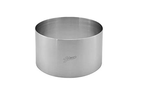 Ateco Round Cake Ring and Dessert Mold, 5.5 x 3-Inches High
