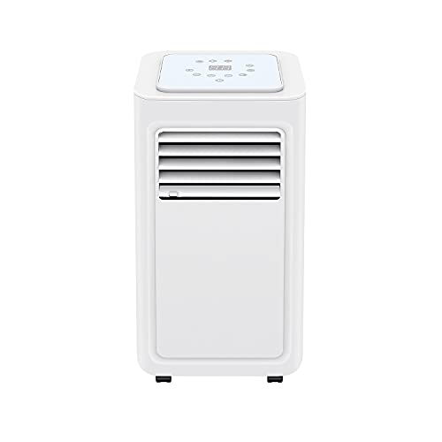 Famgizmo 4-in-1 Portable Air Conditioner 8000 BTU with Remote Control, 24 Hour Timer & Window Venting Kit Included, Powerful Air Conditioning Unit with Class A Energy Efficiency Rating