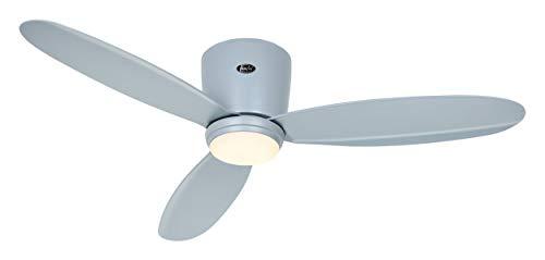 Ventilador de techo con luz CasaFan 311285 ECO PLANO II 112cm gris claro + Kit de luz EP-LED LG
