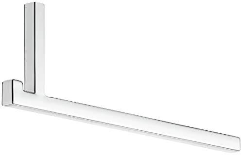 Gedotec Wand-Garderoben Paneel Garderobenstange Flur Kleiderbügelstange 230 mm | Metall verchromt poliert | Kleiderstange für Fachboden & Wand-Montage | 1 Stück - Wandgarderobe L-Form mit Schrauben