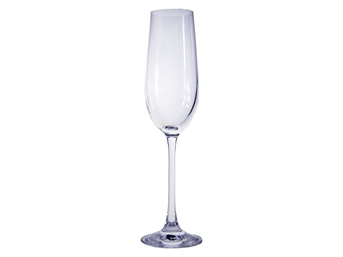 Thermostat Kristall Vinea de Sèvres Ben Set von Zwei Gläser Flötenetui, Champagner