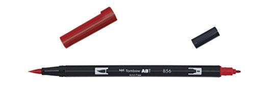 Tombow - Rotulador con doble punta, color Rojo chino.