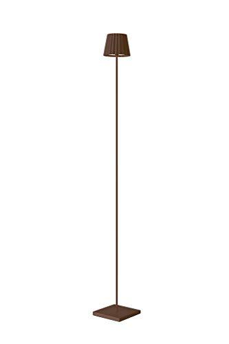 Sompex Troll - Lámpara de pie led para jardín (funciona con batería, aluminio, regulable, protección contra salpicaduras), color marrón