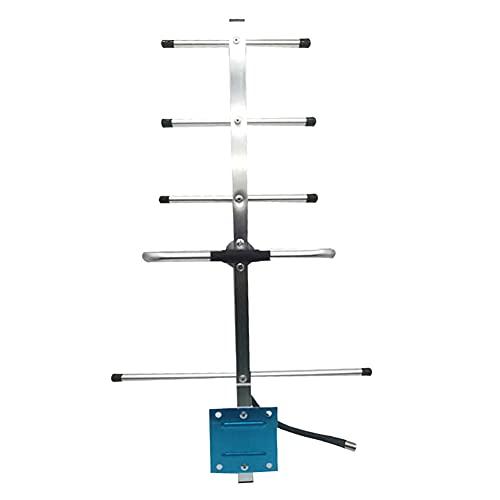 SKLLA Antena De 5 Elementos De Onda De Tierra Aérea De TV Digital De Alta Ganancia para Exteriores HD Freeview Loft Kit Aéreo Compacto De Fácil Montaje para Casas Planas Barcos Caravanas