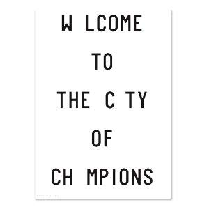 PLTY - Poster - Welcome to The City of Champions - 70x100 cm