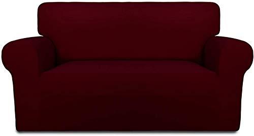 Mazu Homee Juego de sofá de silla súper elástica, juego de sofá suave, funda de muebles transparente con espuma antideslizante y parte inferior elástica, adecuado para niños, mascotas (gris oscuro)