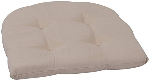 Beo Sitzkissen Gartenmöbel | hautfreundlich atmungsaktiv | Made in EU | Beige | Stuhlkissen fleckenabweisend | Sesselkissen 41x41 cm für Stuhl | pflegeleicht