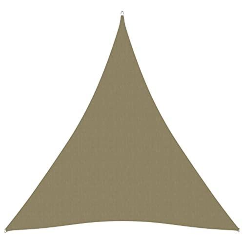 Warmliving Toldo de Vela Triangular de Tela Oxford Toldo con Protección Solar para jardín y balcón