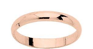 www.diamants-perles.com - Fede nuziale in oro rosa 375/1000 9 carati, larghezza 3 mm e Oro rosa 375/1000, 29, cod. RM9KDJ30RB-69