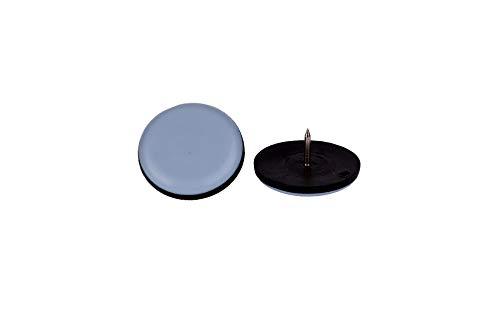 Lot de 16patins pour meubles ronde Ongle avec Téflon Ø 22mm–5mm d'épaisseur/Revêtement PTFE/teflongleiter/chaise Patins