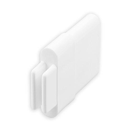 DIWARO® Endstabgleiter | Größe 30mm x 11mm | Farbe braun, graun oder weiß | Material Kunststoff | für Endleiste, Endschiene, Winkelendschiene | Rolladenpanzer, Jalousie, Rollo (weiß)