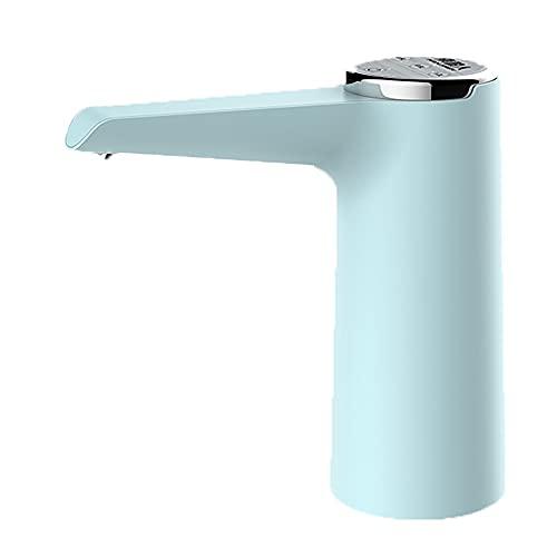 Dispensador Agua para Garrafas con Adaptador Eléctrico Automático Extraíble Recargable USB Botellas Agua Fria Y Caliente Bomba De Agua (Color : Blue)
