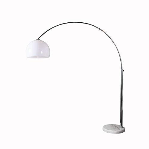 Design Bogenlampe Late Lounge weiss 175-205 mit Marmorfuß