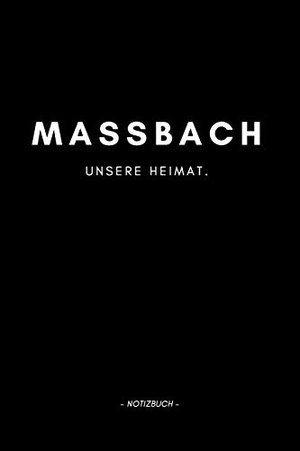Maßbach: Notizbuch, Notizblook, Notizheft, Notizen, Block, Planer | DIN A5, 120 Seiten | Liniert, Linien, Lined | Deine Stadt, Dorf, Region und Heimat