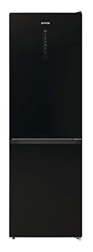 Gorenje NRK 6192 ABK4 - Nevera y congelador (185 cm, 302 L), color negro