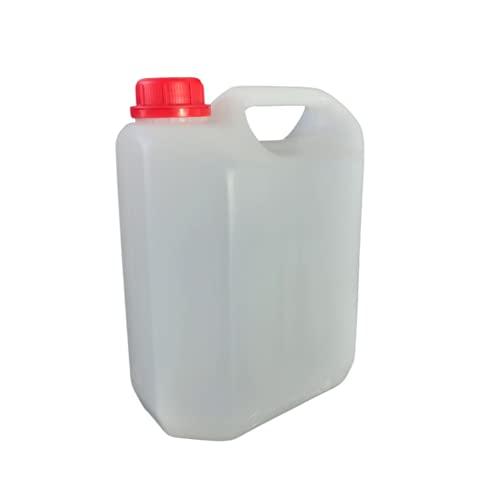 Garrafa bidón plástico 5 litros homologado ADR Transparente Boca Ancha Ideal para Agua Gasolina químicos depósito Aire Acondicionado Camping Furgoneta Camper