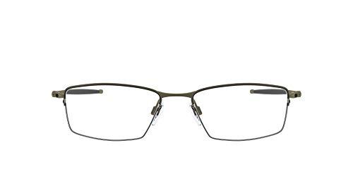 Oakley Men's OX5113 Lizard Titanium Prescription Eyeglass Frames, Pewter/Demo Lens, 56 mm
