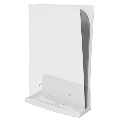 sciuU Soporte de Pared compatible con Consola PS5 Playstation 5, Placa de Metal Engrosado de Alta Resistencia, Metálico Accesorios Soporte Vertical con Rejillas de Ventilación para PS5 Console, Blanco