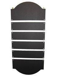 Krijtborden UK Hangende Ladder Display met 4 Panelen, Hout, Zwart, 75 x 42 x 0.06 cm