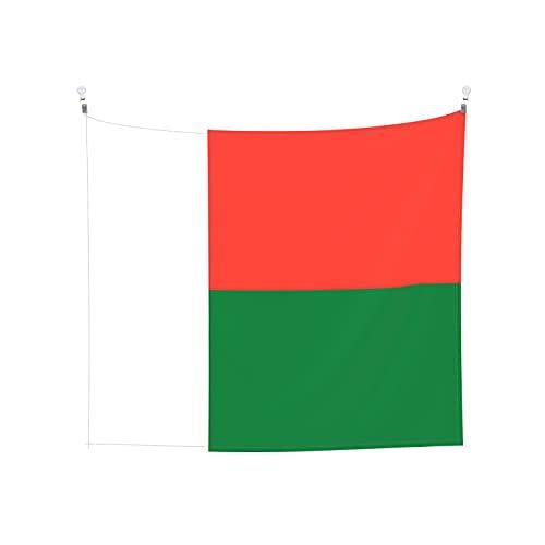 Wandteppich, Motiv: Flagge von Madagaskar, Wandbehang, Boho, beliebt, mystisch, Trippy, Yoga, Hippie, Wandteppiche für Wohnzimmer, Schlafzimmer, Wohnheim, Heimdekoration, Schwarz & Weiß
