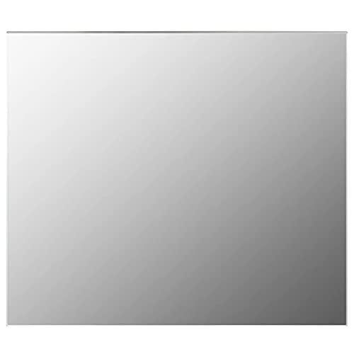 vidaXL Espejo sin Marco para Maquillaje de Cuatro Baño Rectangular Decoración Hogar Oficina Dormitorio Adhesivos de Mural Vidrio 70x50cm