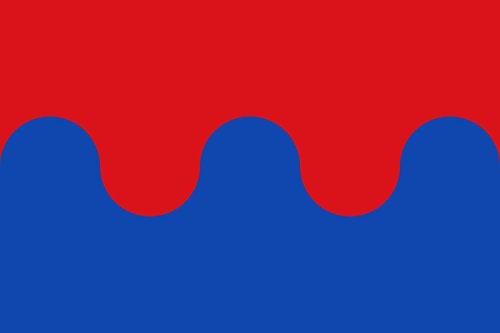 magFlags Bandera Large Proporciones 2 3. Ondeada por Mitad Horizontal | Bandera Paisaje | 1.35m² | 90x150cm
