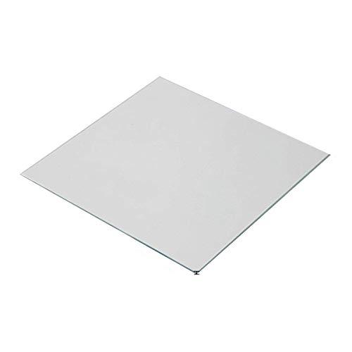Wisamic 310x310x3mm Lecho térmico de vidrio borosilicato para la impresora 3D CR-10 CR-10S CR-X S3