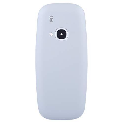 Liluyao Teléfono de Piezas de Repuesto Cubierta de Carcasa de Montaje Completo con Teclado for Nokia 3310 (Color : Grey)