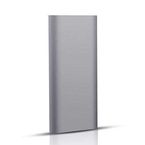 Externe Festplatte 2tb Tragbare USB3.1 Type C Externe Festplatte für PC, Mac, Desktop, Laptop, MacBook, Xbox One.(2TB,Grau)