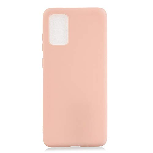 LeviDo Compatible for Samsung Galaxy S10 Lite/Galaxy A91/M80s Case Silicone Soft Rubber Candy Colors Thin Pretty Cover Ultra Slim Matte TPU Gel Protective Shockproof Bumper, Pink