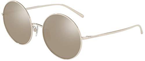 Dolce & Gabbana 0DG2215K Gafas de sol, Silver Plated, 58 para Mujer