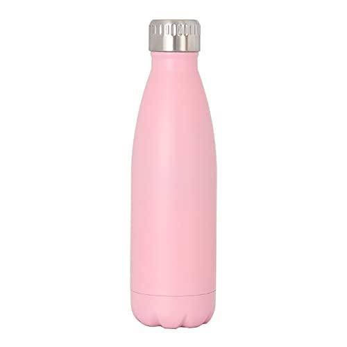 Jituan Taza de agua 304 de acero inoxidable de coque botella al aire libre al vacío Bowling Mug Creative Cold Storage Sports Coke Cup Botella deportiva de gran capacidad (500 ml) (rosa flor de cerezo)