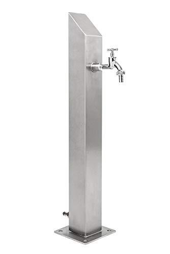 KTC Tec Wassersäule SQS 1030 mm Edelstahl V2A Bewässerung Zapfstelle Zapfsäule Gartenschlauch Spender
