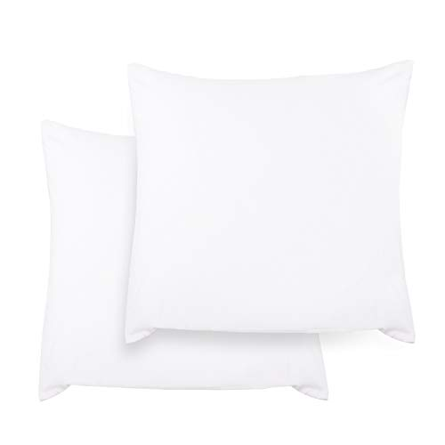 Kissenbezug kissenhülle Kopfkissenbezug Bettkissenbezug Pillowcase, Adoric [2er Set] Kissenbezug 100{1c678c5adc1b8c08fd5b5944afce1c40be8d5c1c86fc6b9c79fde48018e532a1} Mikrofaser, 80 cm x80 cm.(Weiß)