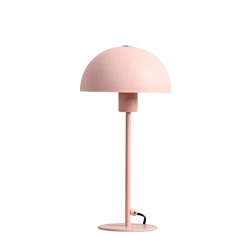 Hong Yi Fei-Shop Lampara Mesilla Lámpara de Mesa de Estilo nórdico Creativo Personalidad Hogar Lámpara de Mesa pequeña Dormitorio Luz de Noche cálida Lámpara de Mesa (Color : Pink)