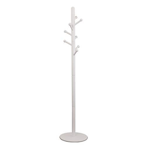 Madera Sólida Perchero,Casa Minimalista Ropa Colgador,Forma De Árbol Perchero De Pie con 8 Ganchos para Entrada Vestíbulo Officee Casa-Blanco 38.5x38.5x180cm