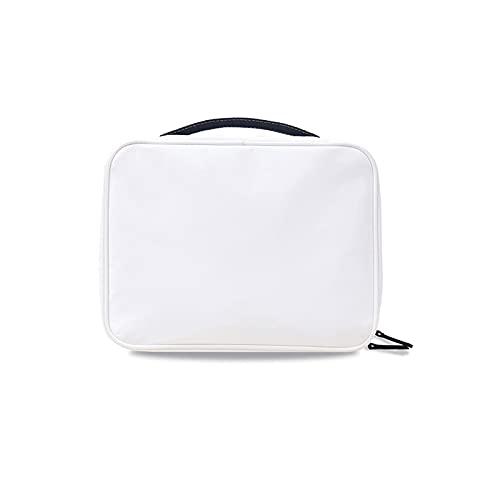 Quattro In Uno Beauty Case,Può Essere Appeso Isolamento Secco E Umido Borsa Da Toilette,Viaggio Alta Capacità Portatile Wash Bag,Per Gli Uomini E Le Donne-Bianco 26×20.5×8 cm