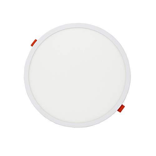 FactorLED Placa LED Circular 20W, Downlight LED Redondo, lampara de techo, panel empotrable, con diámetro ajustable de 50mm a 210mm, Iluminación de interior, drivers incluidos (Luz Fría (6000K))