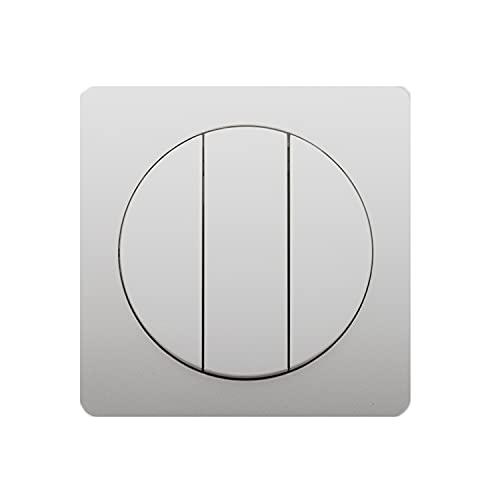 Yoaodpei Tipo 86 Círculo Interior Panel Exterior Personalidad Interruptor de botón Redondo Interruptor Oculto Gris Interruptor de luz de Pared Interior