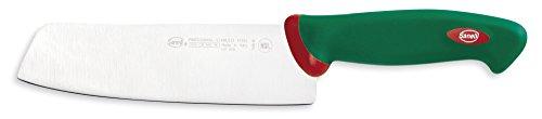Sanelli Premana Professional Coltello Giapponese, Acciaio Inossidabile, Verde/Rosso, 31.0x3.0x6.0 cm