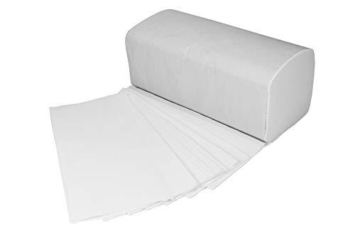 4000 Blatt Papierhandtücher 2-lagig Soft mit Zick Zack Falz | 20 x 200 Stück | saugstarke Einmalhandtücher in Weiß 25 x 23 cm | Ideal für Gastronomie, Krankenhäuser, Praxen uvm.